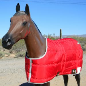 Big D Kodiak Blanket Red w/silver trim closed front