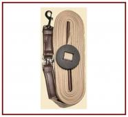 Kensington Flat Cotton Lunge Line w/ Swivel & Leather