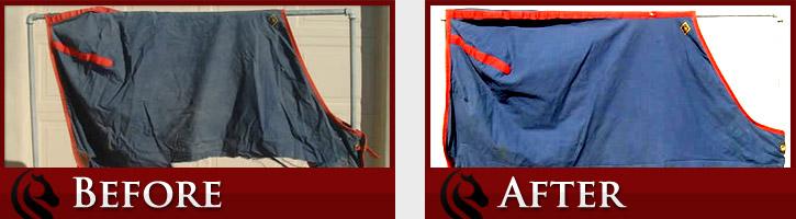 Horse Blanket Repair Before & After